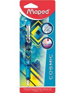 Stilou plastic, corp albastru, Cosmic Teens blister Maped