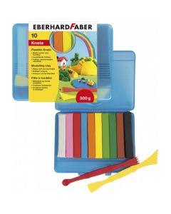 Plastilina in cutie plastic, 10 culori/set, 572010 Eberhard Faber