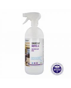 Dezinfectant, dezodorizant, cu pulverizator, pentru suprafete, 1L, Davera Hotels, Klintensiv