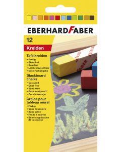 Creta scolara rotunda color 12buc/cutie Eberhard Faber