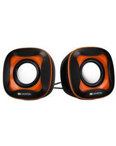 Boxe stereo, negru-portocaliu, 2x3W, CNS-CSP202BO, Canyon