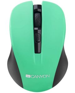 Mouse optic, wireless, 3 butoane si 1 scroll, verde, CNE-CMSW1GR, Canyon