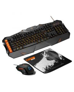 Kit tastatura cu fir, mouse cu fir si pad mouse, CND-SGS01-US, Gaming Leonof Canyon