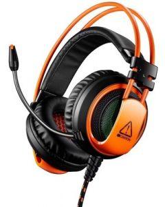 Casti on-ear, negru/portocaliu, cu fir, CND-SGHS5, Gaming Corax Canyon