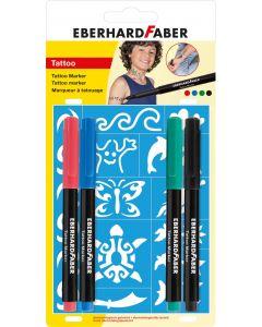 Non-permanent marker 4buc/set, Tatuaj Kids Eberhard Faber