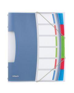 Mapa plastic cu 6 separatoare, diverse culori, Vivida Esselte
