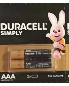Baterie alcalina, cilindrica, R3, AAA, 2buc/set, Duracell