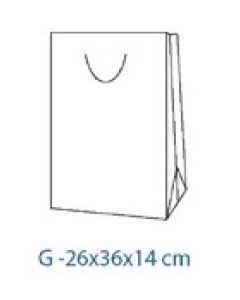 Punga cadou tip G verde, dimensiuni 26x36x14cm, CR