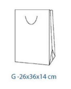 Punga cadou tip G alb, dimensiuni 26x36x14cm, CR
