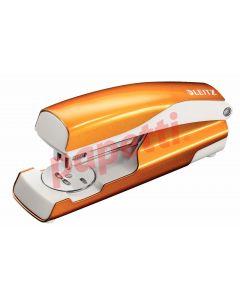 Capsator metal portocaliu metalizat, 24/6 si 26/6, Wow 5502 Leitz