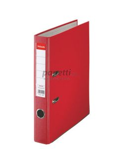 Biblioraft plastifiat 5cm, rosu, Economy Esselte