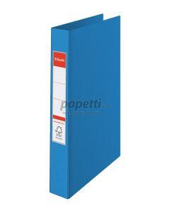Caiet mecanic A4, 4 inele, albastru, cotor 35mm, coperta carton plastifiat, Standard Esselte