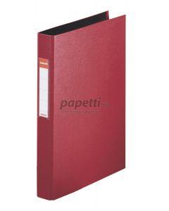 Caiet mecanic A4, 4 inele, visiniu, cotor 35mm, coperta carton plastifiat, Standard Esselte