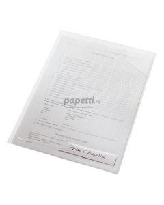 Mapa plastic cu eticheta, transparent, 5buc/set, Combifile Leitz