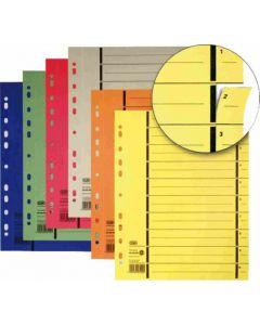 Separatoare carton galben A4 100buc/set Elba