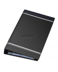 Clasor pentru carti vizita cu inele negru A4/2, 4/pagina, Visifix 238558 Durable