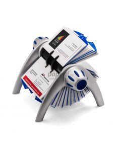 Clasor pentru carti vizita rotativ argintiu, Visifix Flip 241723 Durable