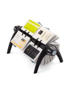 Clasor pentru carti vizita rotativ negru, Visifix Flip Duo 244301 Durable