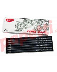 Creion grafit fara lemn, 2B, 6 buc/cutie, Daco
