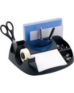 Suport accesorii birou, negru/albastru, Maxi Office Maped