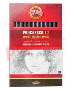 Creion grafit fara lemn, 8B, 12buc/cutie, Koh-I-Noor