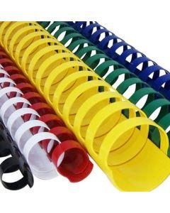 Inele din plastic, 25mm, galben, pentru indosariere