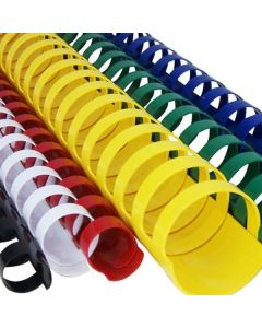 Inele din plastic, 28mm, galben, pentru indosariere