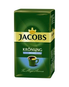 Cafea Jacobs Kronung Decaf, decofeinizata, macinata, 250g