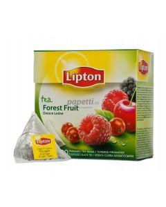 Ceai negru cu aroma de fructe de padure, 20plicuri/cutie, Forest Fruit Lipton Pyramid