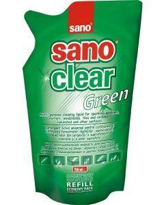 Rezerva detergent geamuri, oglinzi, obiecte din ceramica, portelan, 750ml, Clear Green Sano