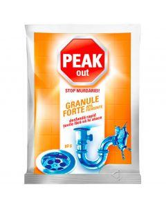 Granule pentru desfundat tevi, apa calda, 80g, Peak Out