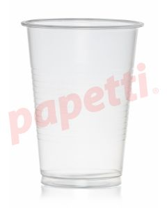 Pahare plastic transparente, 400ml, 50buc/set