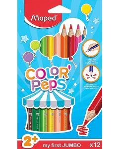 Creioane colorate 12culori/set, Color Peps My First Jumbo Maped