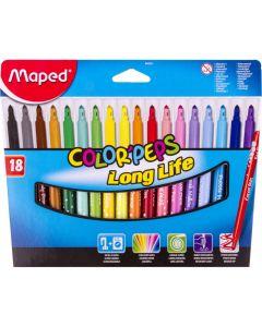 Carioca 18 culori/set Color Peps Long Life Maped