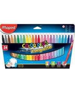 Carioca 24 culori/set Color Peps Long Life Maped