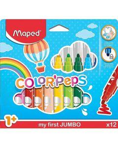 Carioca 12 culori/set Color Peps My First Jumbo Maped