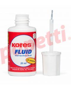 Fluid corector cu pensula, pe baza de solvent, Kores