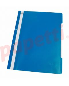 Dosar plastic cu sina si perforatii, bleu, Noki
