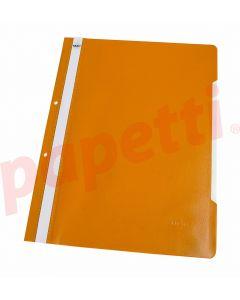 Dosar plastic cu sina si perforatii, portocaliu, Noki