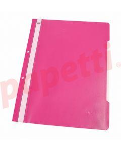 Dosar plastic cu sina si perforatii, roz, Noki