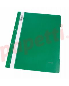 Dosar plastic cu sina si perforatii, verde, Noki
