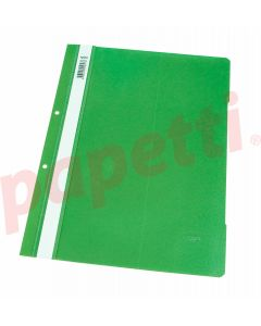 Dosar plastic cu sina si perforatii, verde deschis, Noki