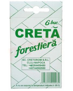 Creta forestiera alba 6buc/cutie Cretorom