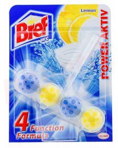 Odorizant solid cu suport pentru toaleta, 50g, Power Aktiv Lemon Bref