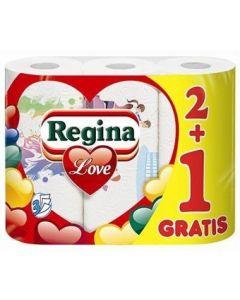 Prosop hartie alb, 3 straturi, 3role/set, Regina Love