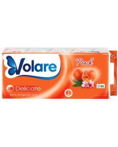 Hartie igienica parfumata, 3 straturi, 10role/set, Deluxe Cheerful Peach Volare