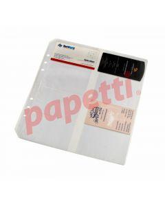 File de protectie A4, transparente, pentru carti de vizita, 8/pagina, 10buc/set, Acvila