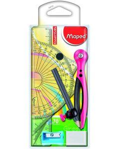 Trusa geometrie 8 piese Essentials Maped