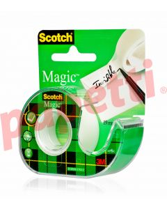 Banda adeziva invizibila cu dispenser, 19mm x 7.5m, Scotch Magic 3M