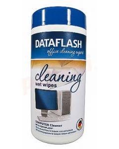 Servetele curatare suprafete din plastic, umede, 100buc/cutie Data Flash